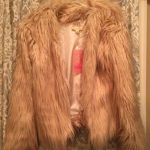 Jackets & Blazers - Mauve Fur Jacket